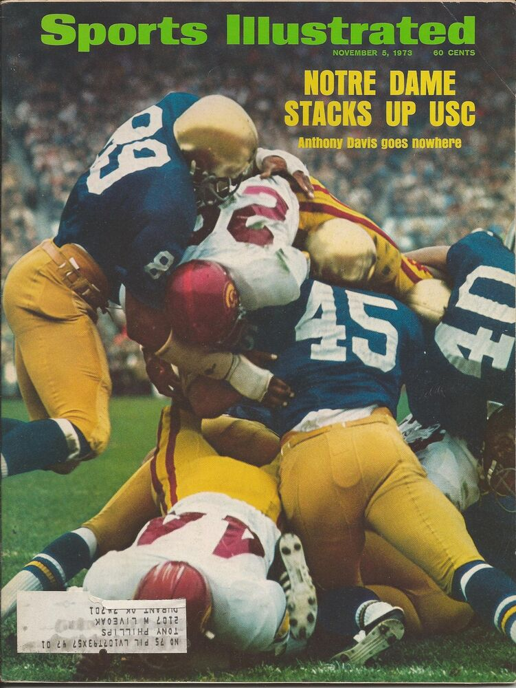 1973 SPORTS ILLUSTRATED Magazine NOTRE DAME vs. USC ...