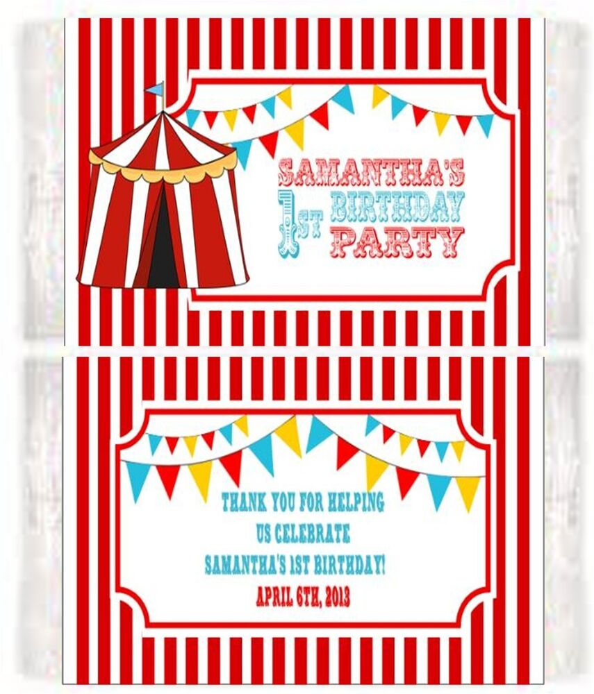 Carnival Circus Popcorn Wrappers Birthday Party Favors