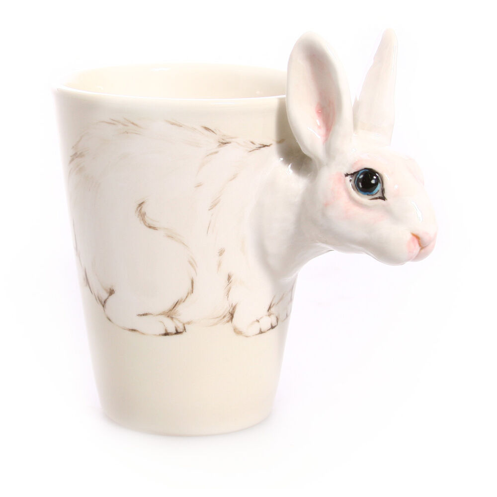 Blue Witch 3d Mug Rabbit Hand Paint Ceramic Coffee Mug