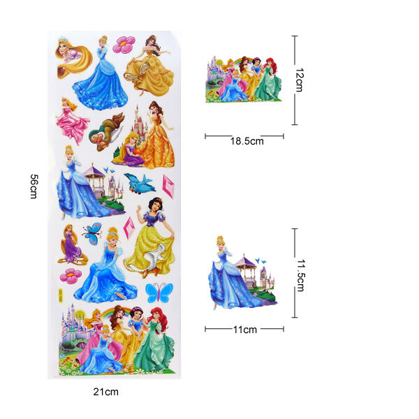 Disney Princess Princesses Home Glass Window Decals Stickers Decor Removable Ebay