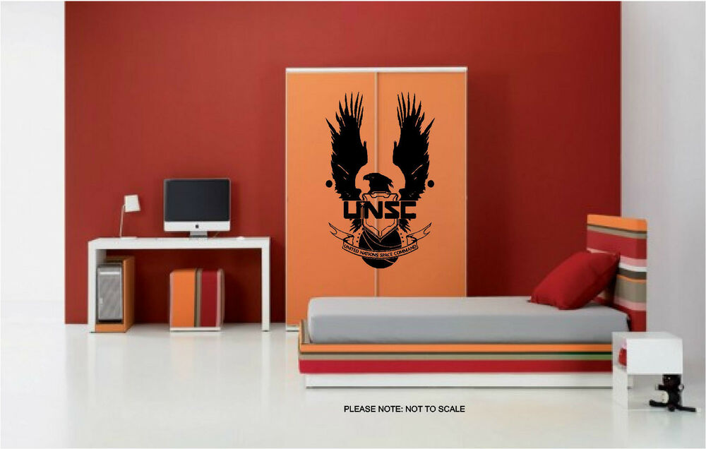 halo unsc wall art sticker decal ebay