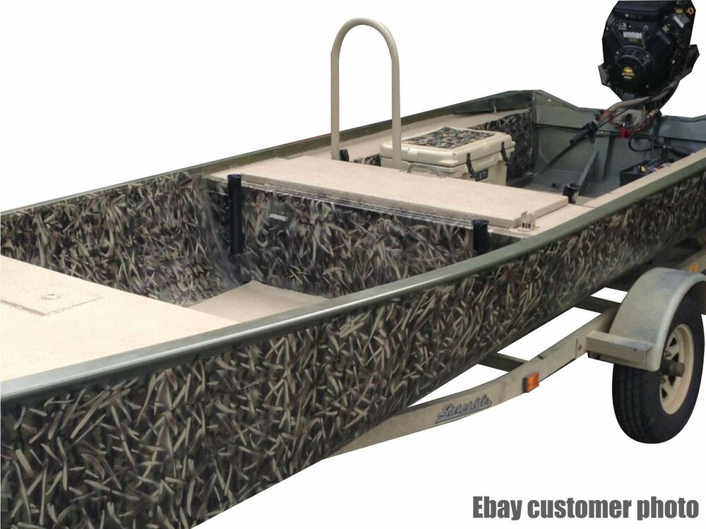 Redleg camo hd3 6 piece 18 x26 duck boat camouflage for Camo paint template