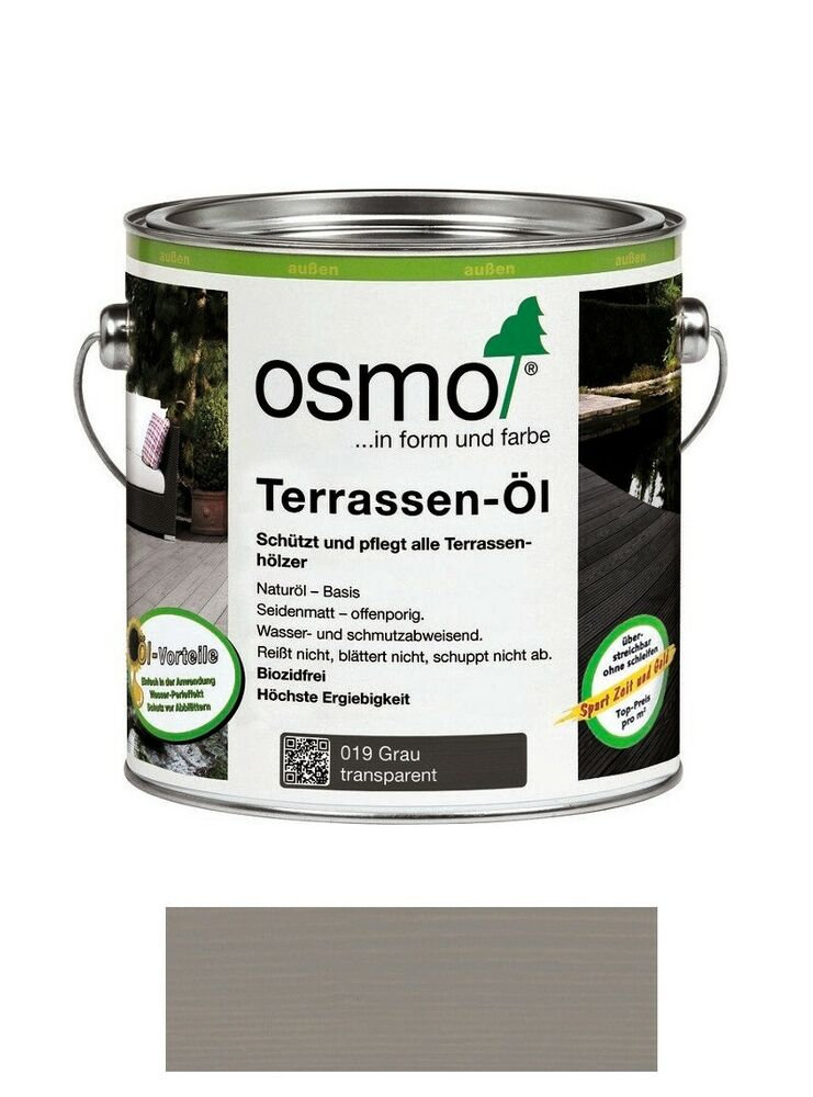 osmo terrassen l 019 grau 2 5 liter gebinde ebay. Black Bedroom Furniture Sets. Home Design Ideas
