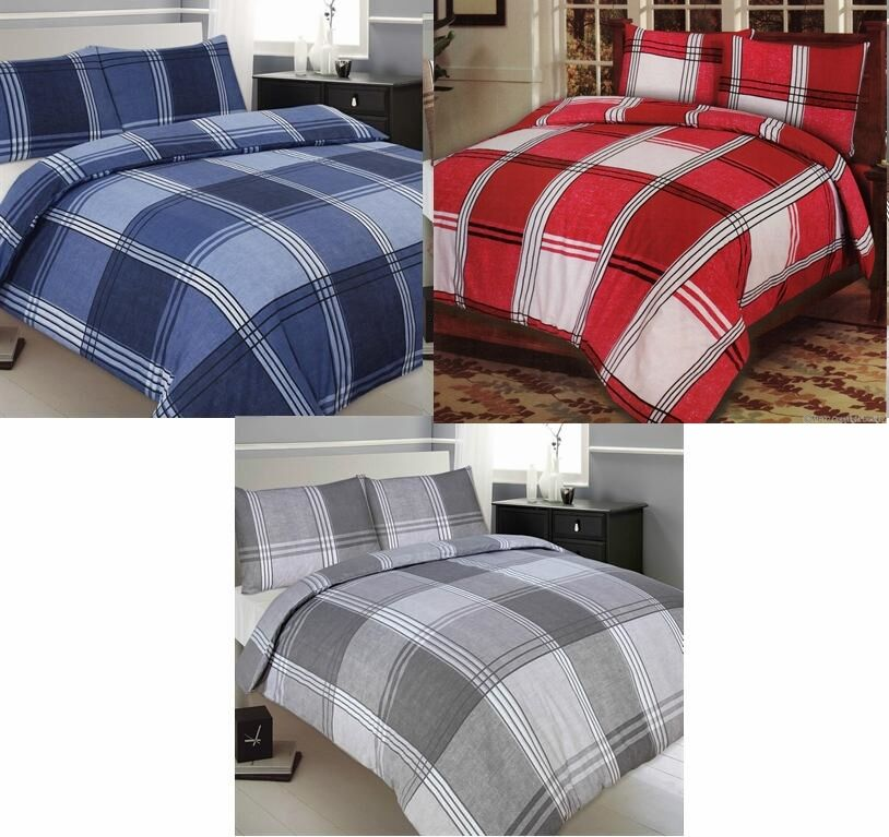 Hamilton Check Bedroom Sets Duvet Covers Curtains Matching Accessories Ebay