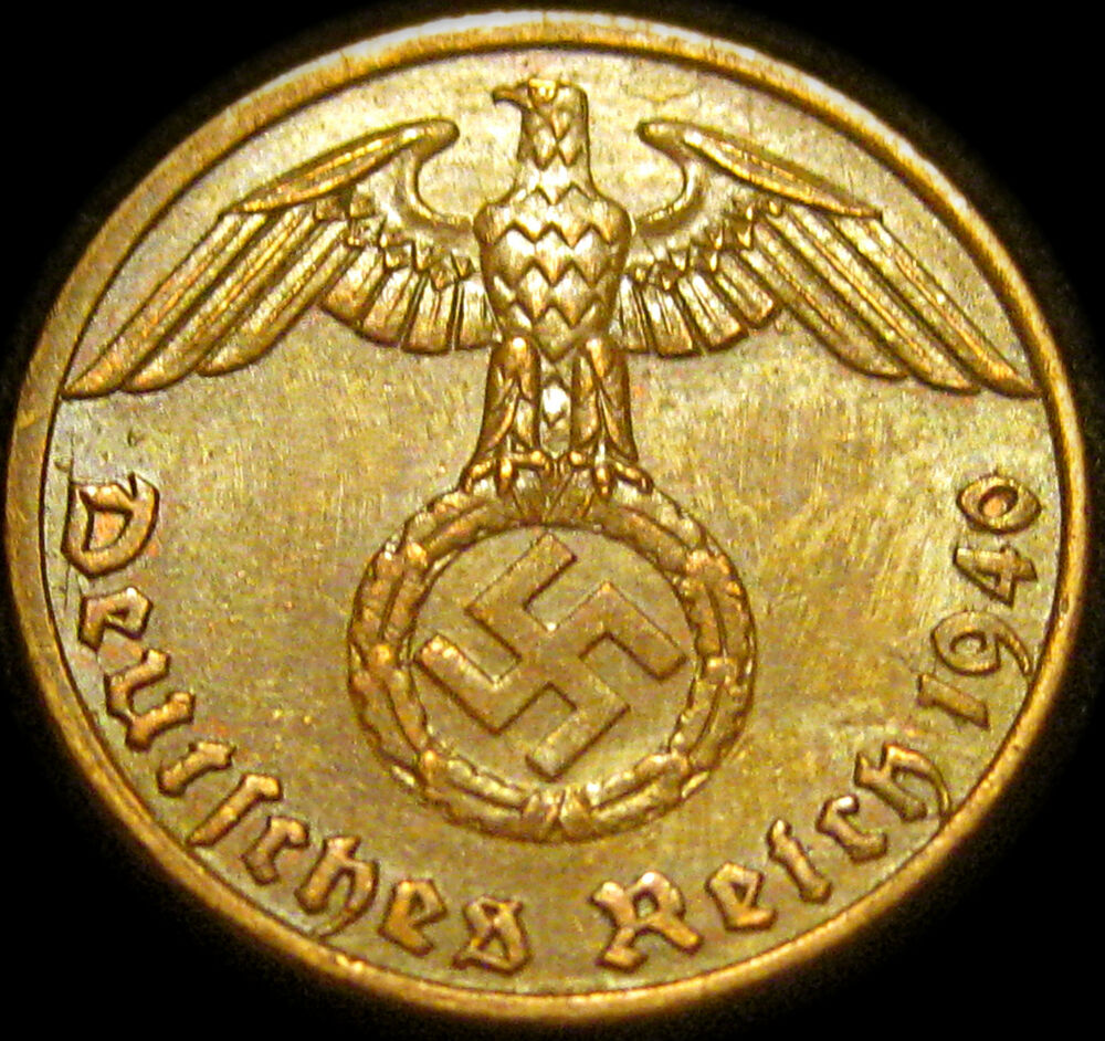 Germany German 1940a Reichspfennig Coin German Third Reich