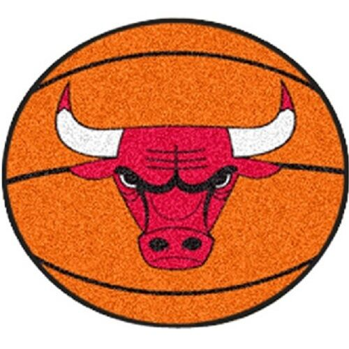 "Chicago Bulls 27"" Basketball Shaped Area Rug Floor Mat"