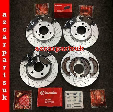 bmw e46 320d m sport front rear brake discs brembo pads sensors shoes fit kit ebay. Black Bedroom Furniture Sets. Home Design Ideas