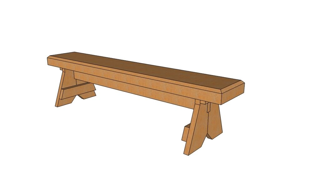 SIMPLE GARDEN BENCH (PLANS ONLY) | eBay