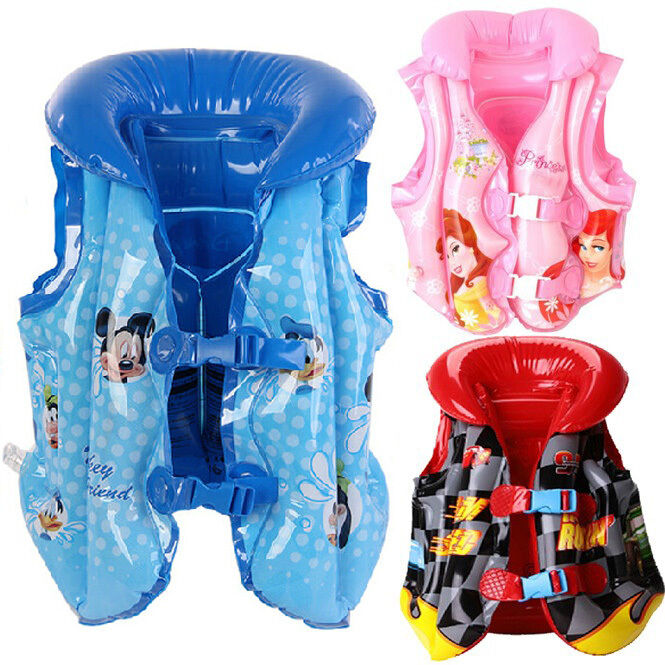 Baby Kids Toddler Inflatable Beach Pool Swimming Life Jacket Vest Float Training Ebay