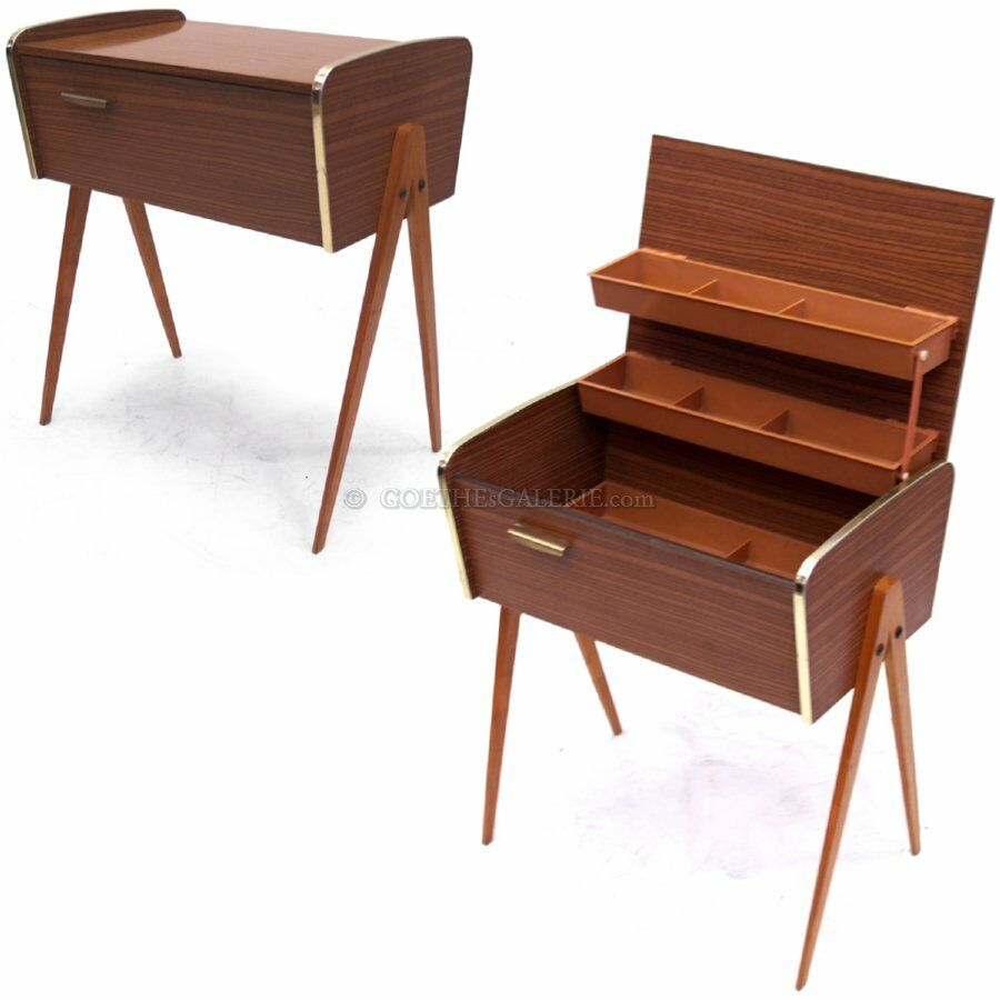 n htisch retro konsole m bel 50er 60er jahre mid century beistelltisch ebay. Black Bedroom Furniture Sets. Home Design Ideas