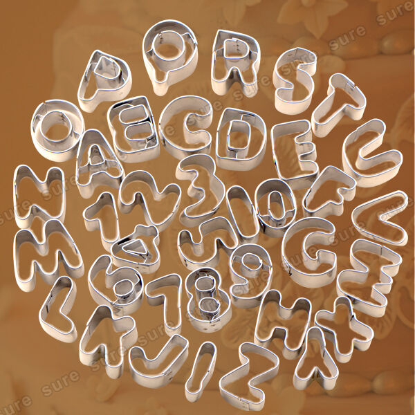Cake Decorating Letter Cutters : 37pcs Alphabet Number Letter Cutter best for Wedding Birthday Cake Decorating eBay