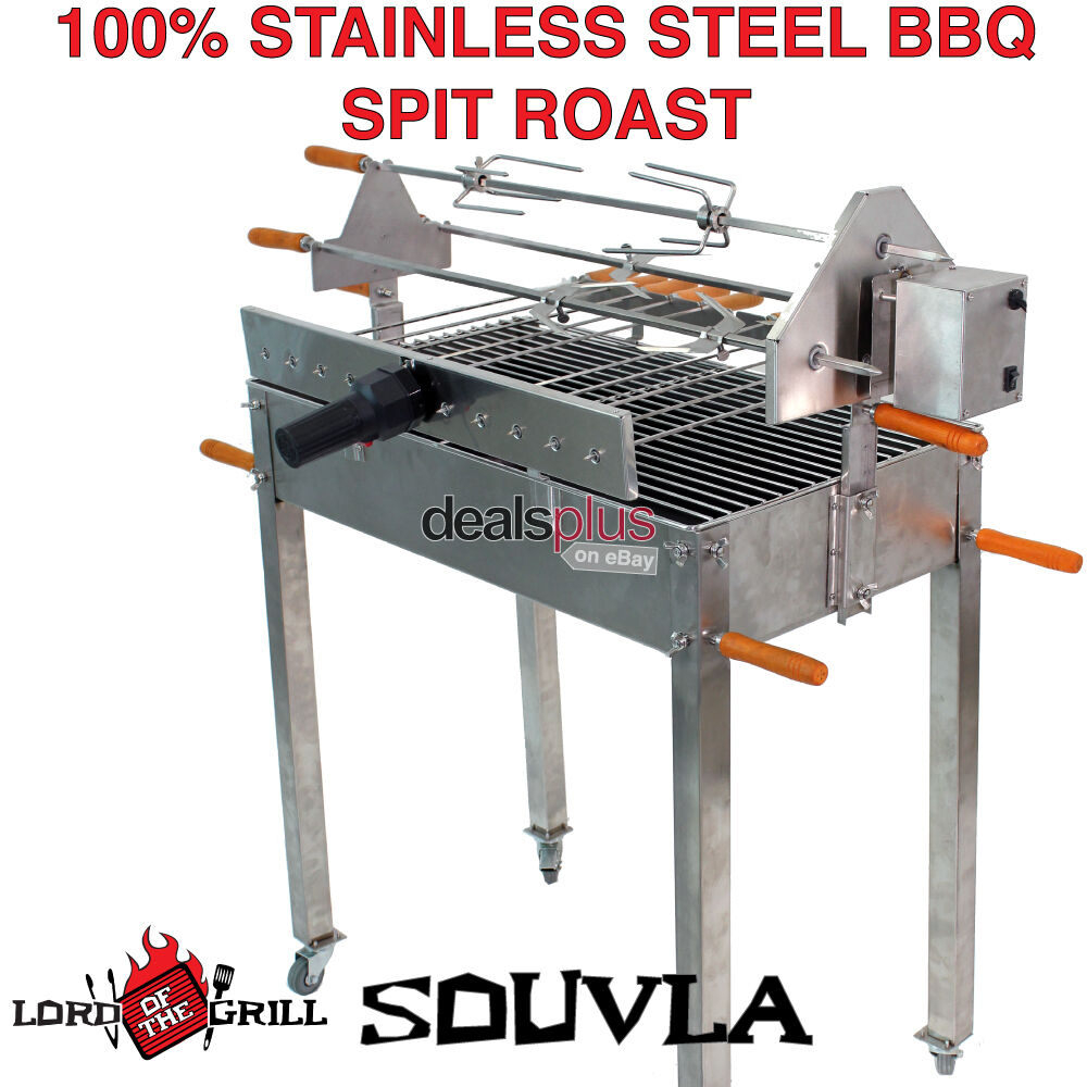 Spit Roast Stainless Steel Bbq Charcoal Cyprus Brazil