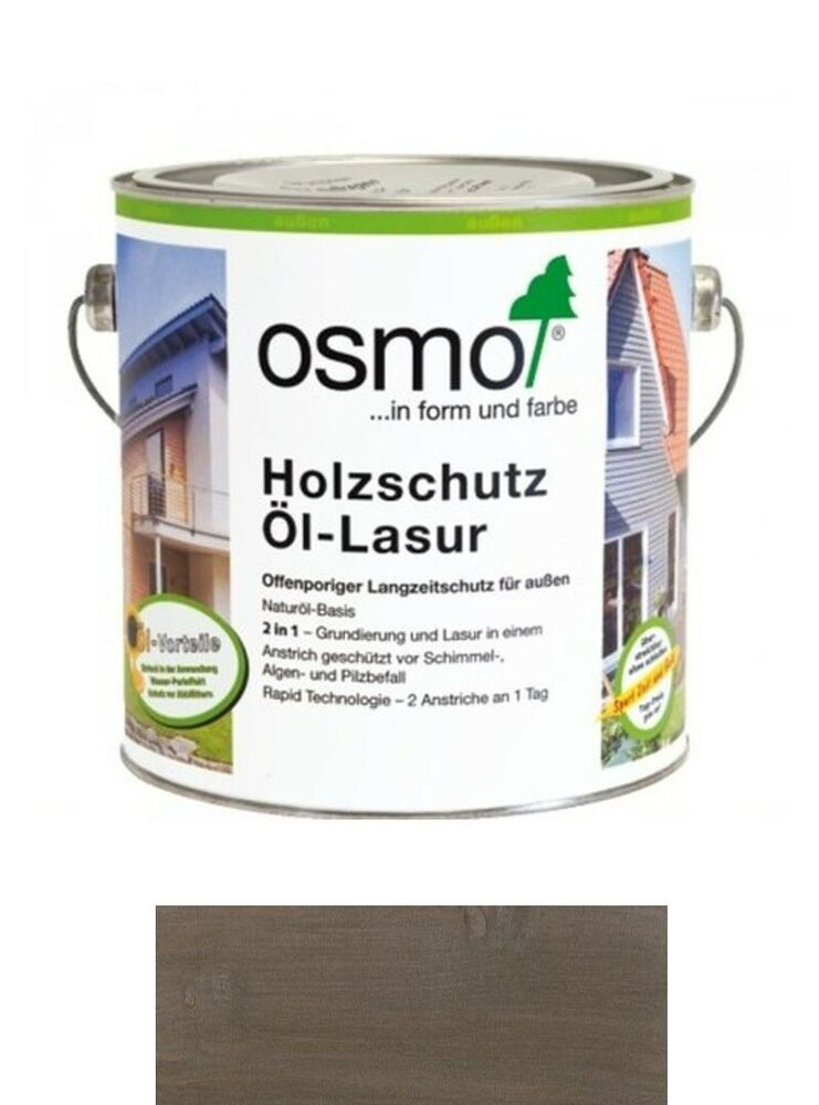 osmo holzschutz l lasur effekt 1143 onyxsilber 2 5 liter gebinde ebay. Black Bedroom Furniture Sets. Home Design Ideas