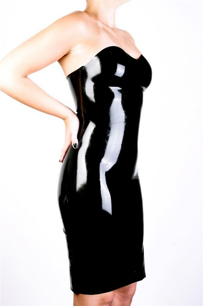 Quite good translucent latex dress for the