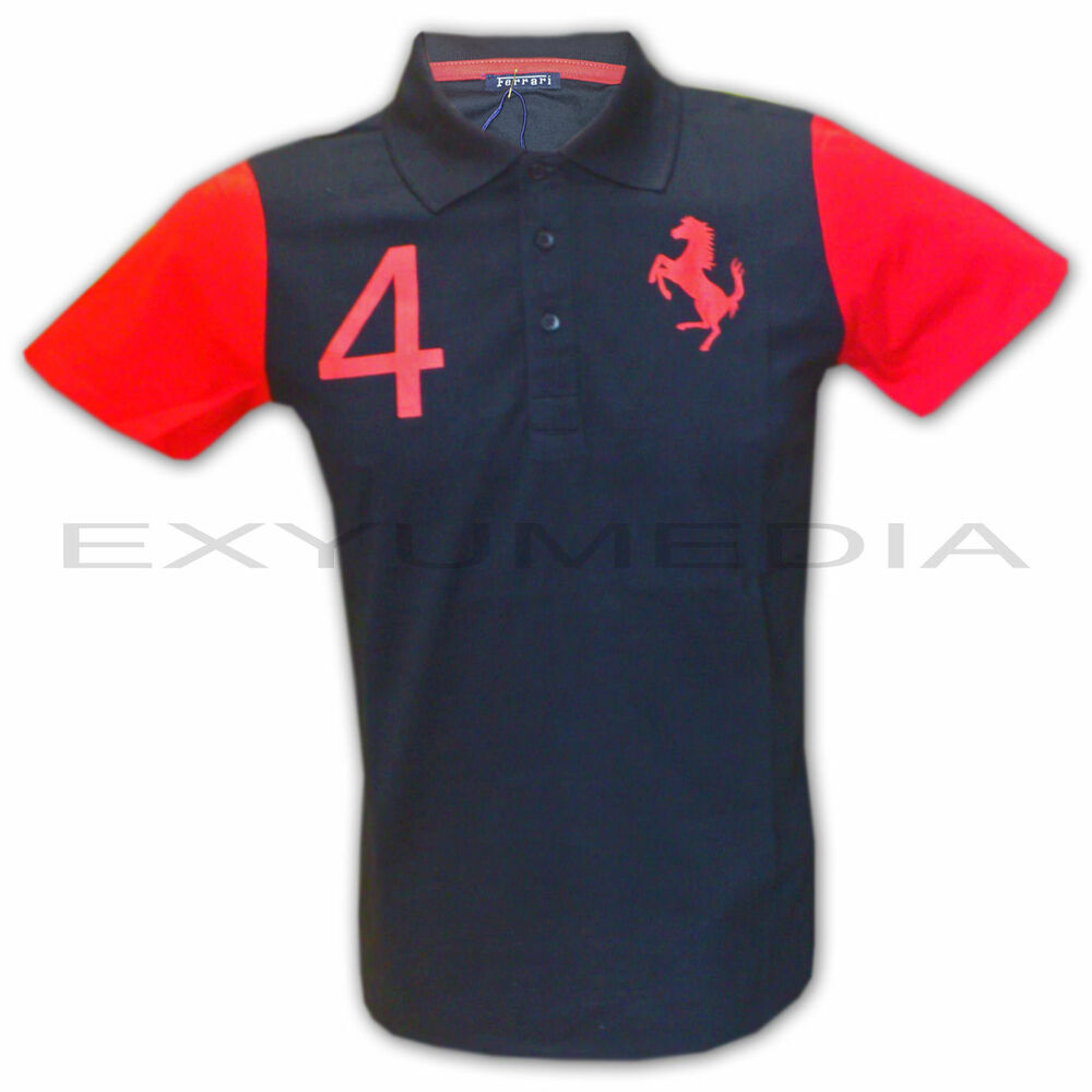ferrari original polo shirt f r teenager kinder children. Black Bedroom Furniture Sets. Home Design Ideas
