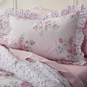 NEW SIMPLY SHABBY CHIC KING Misty Rose COMFORTER