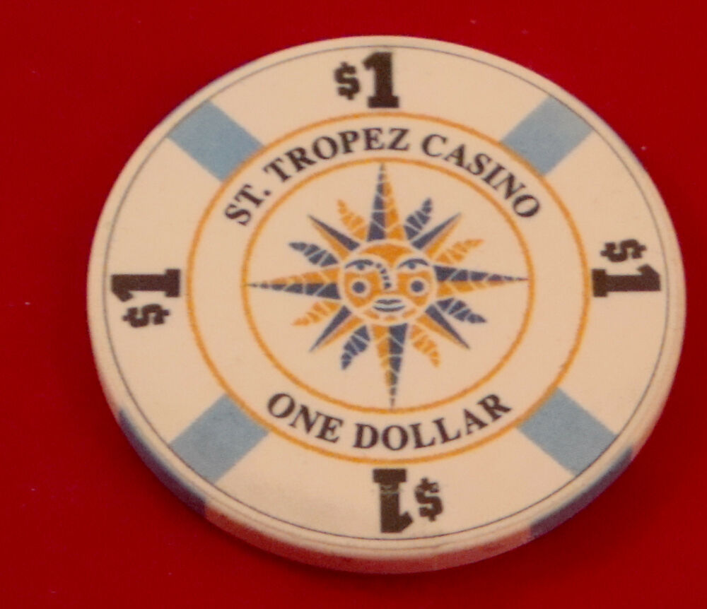 St. Tropez France $1 Casino House Chip Extremely Rare ... One Casino