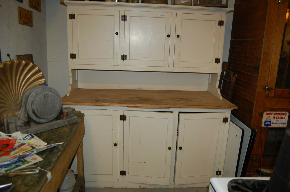 ANTIQUE KITCHEN CUPBOARD STEP BACK CABINET,OLD HOUSE