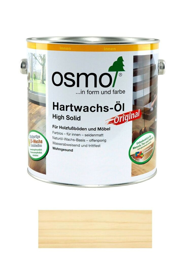 osmo hartwachs l hs original 3062 farblos matt 2 5 liter gebinde ebay. Black Bedroom Furniture Sets. Home Design Ideas