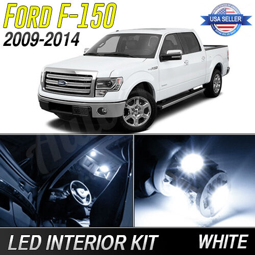2009 2014 Ford F150 White Led Lights Interior Package Kit Ebay