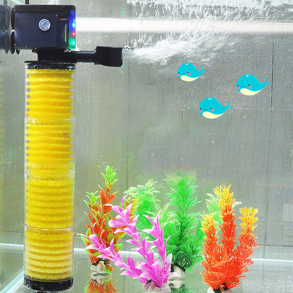 3 in 1 multi function aquarium fish tank internal filter for Fish tank filtration