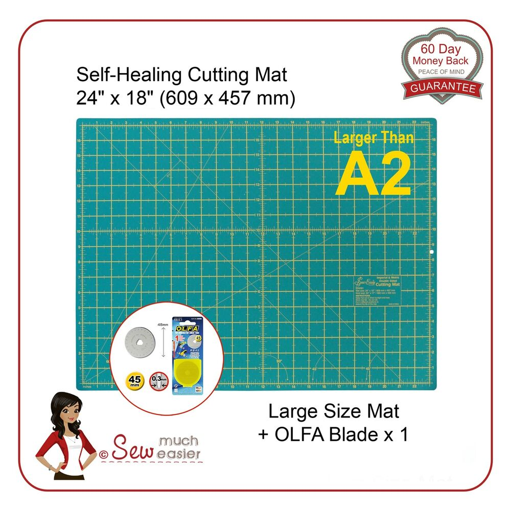 Self Healing Cutting Mat Gt A2 And Olfa 45mm Blade For