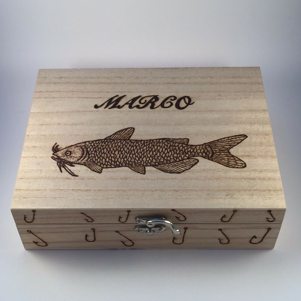 Fishing tackle float box with 10 floats personalised gift for Fishing gifts for him