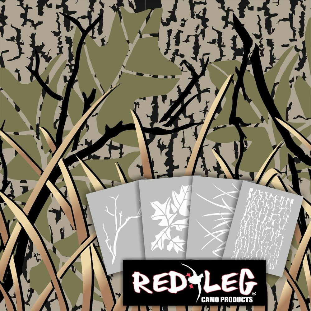 redleg camo 912kit 4 piece stencil kit camouflage airbrush. Black Bedroom Furniture Sets. Home Design Ideas