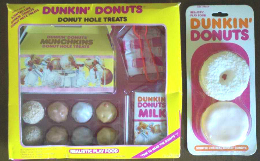 Realistic Play Food Toys : Dunkin donuts realistic play food set of plus