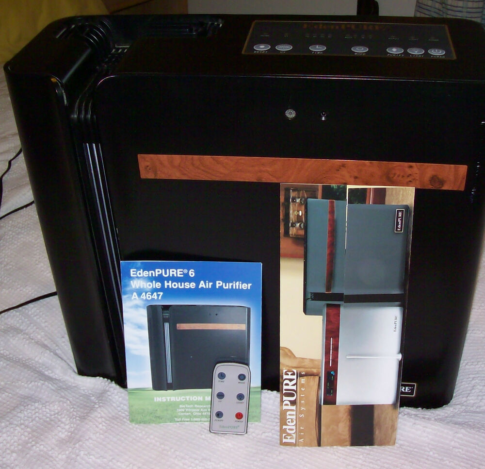 Whole Home Purifier ~ Edenpure whole house air purifier a w remote ebay