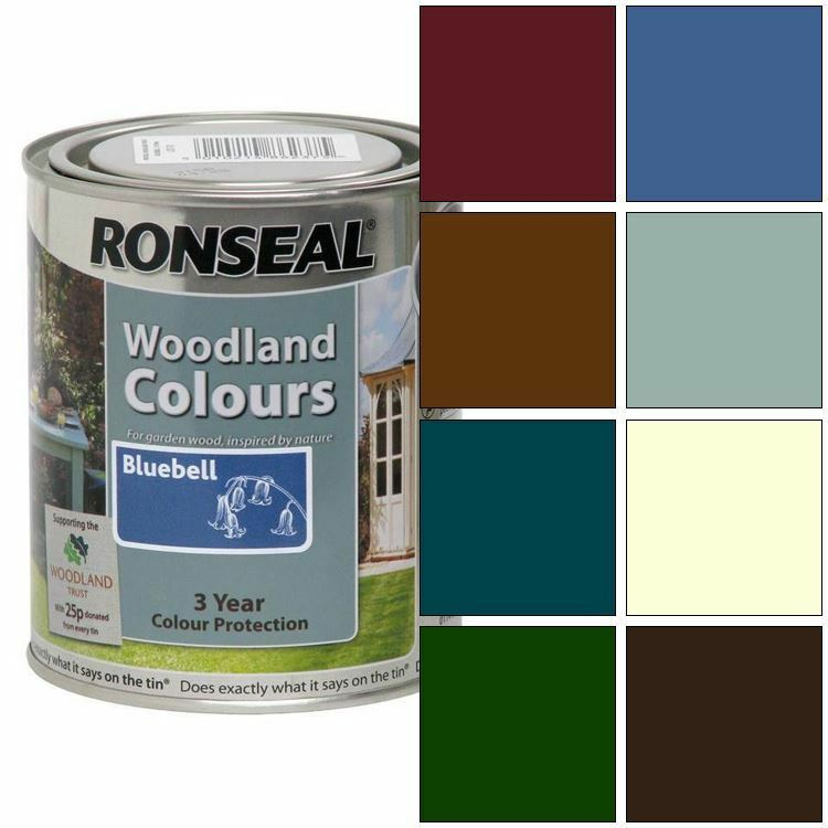 Ronseal exterior wood paint woodland trust garden wood paint 750ml ebay Wood colour paint