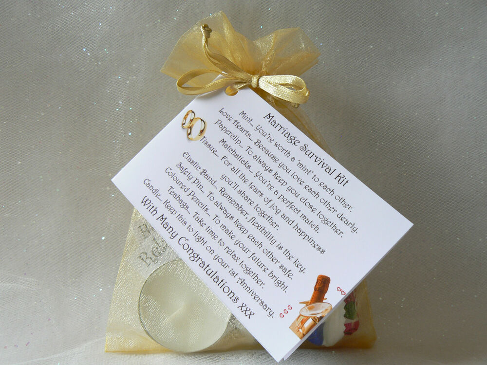 Wedding Gift For Bride From Groom Uk : ... Survival Kit. Novelty wedding gift and card, Bride / Groom. eBay