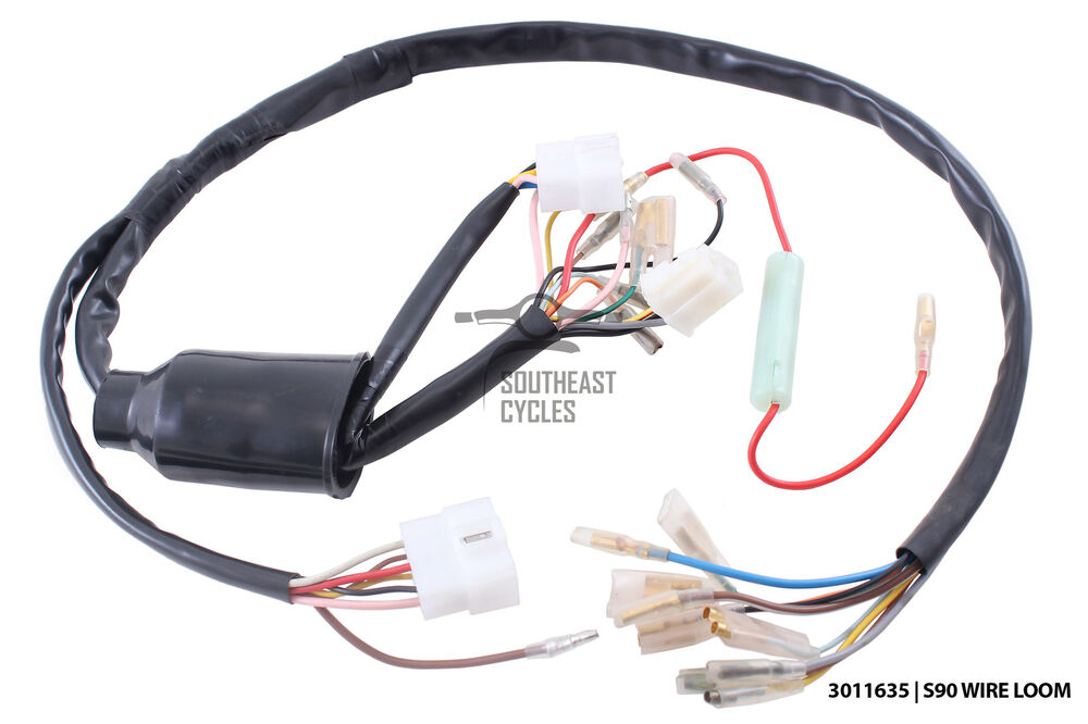 honda s90 wiring harness honda s90 wiring complete wire harness for honda s90 (6 wire ignition ...