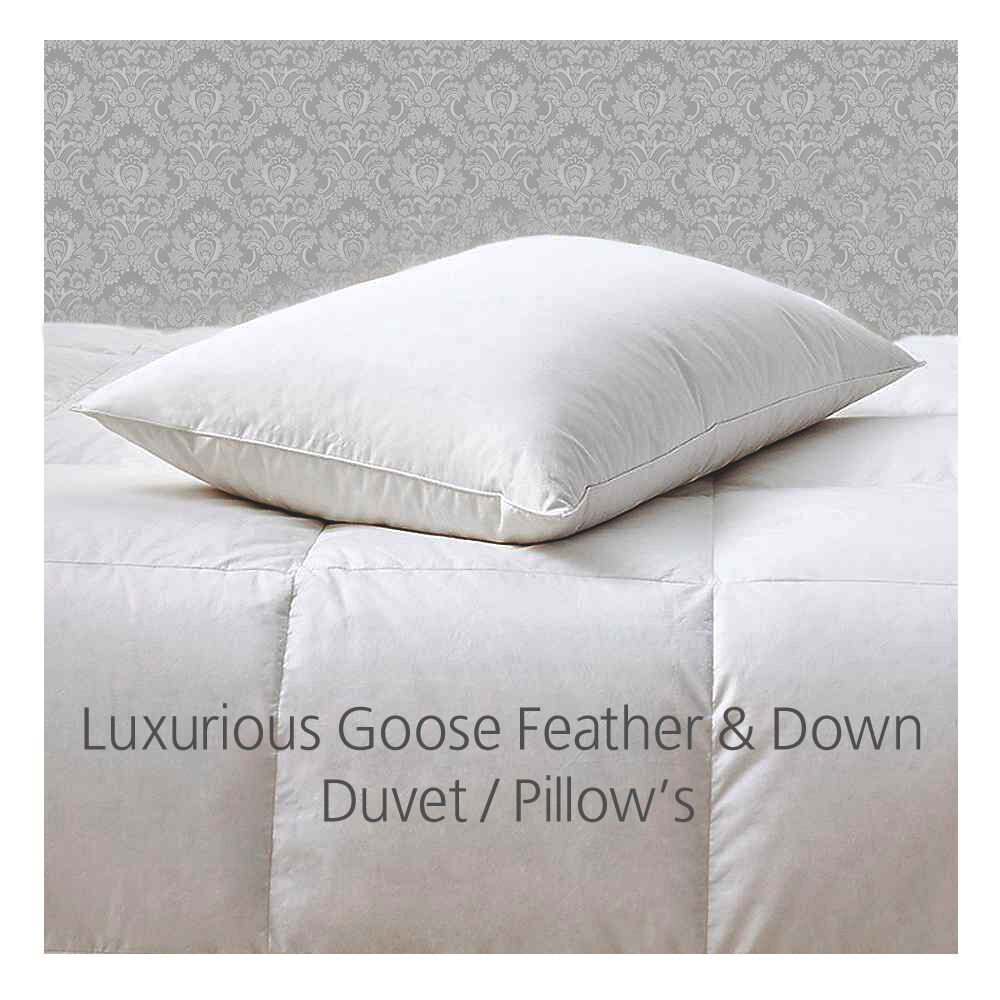 new goose feather and down duvet quilt single double king. Black Bedroom Furniture Sets. Home Design Ideas