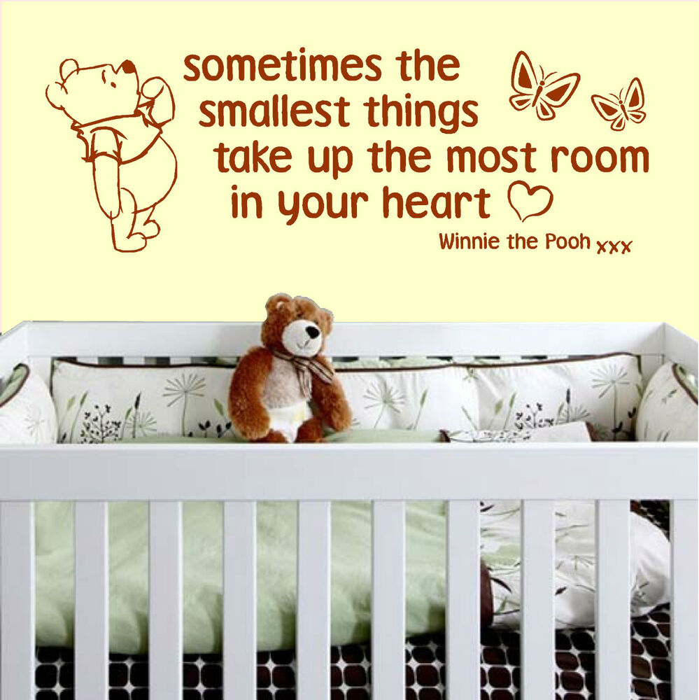 Winnie The Pooh Quotes Sometimes The Smallest Things: Sometimes The Smallest Things Nursery Wall Art Vinyl Quote