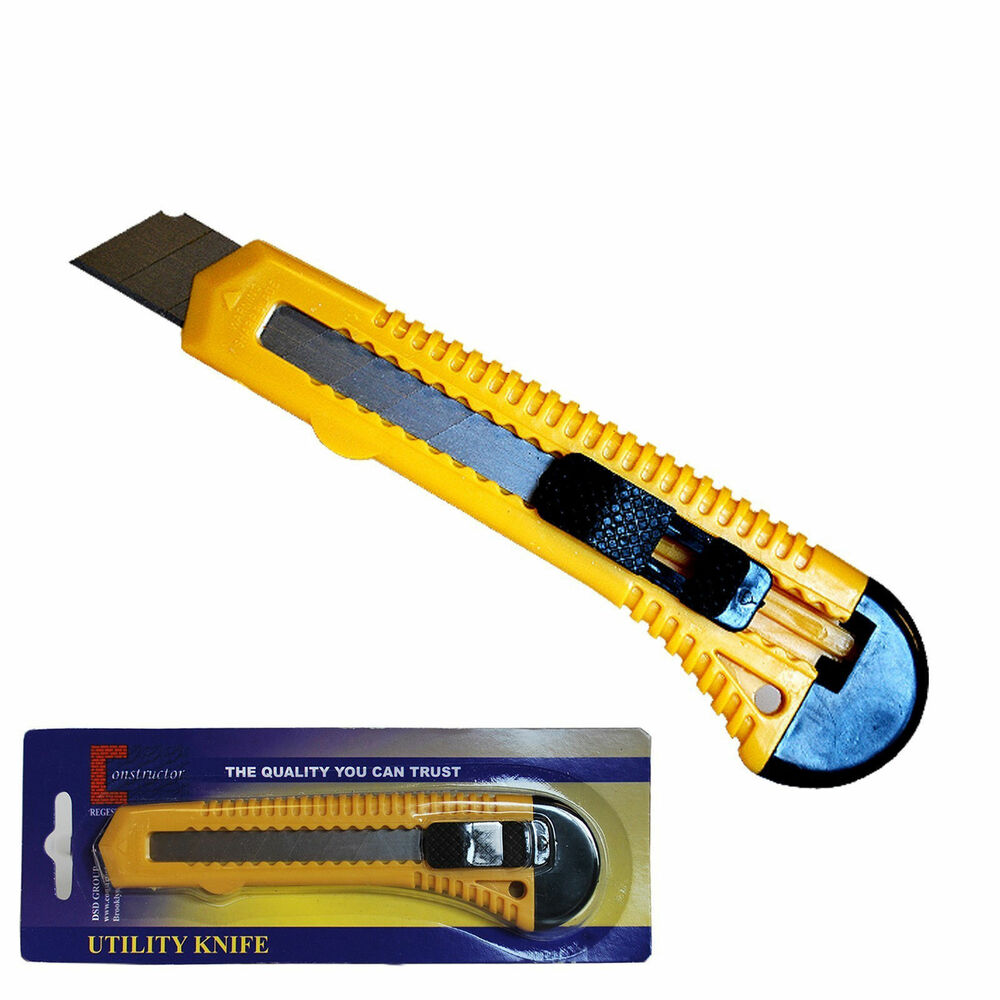 """""""CONSTRUCTOR"""" Box Cutter Utility Knife Snap Off Razor"""