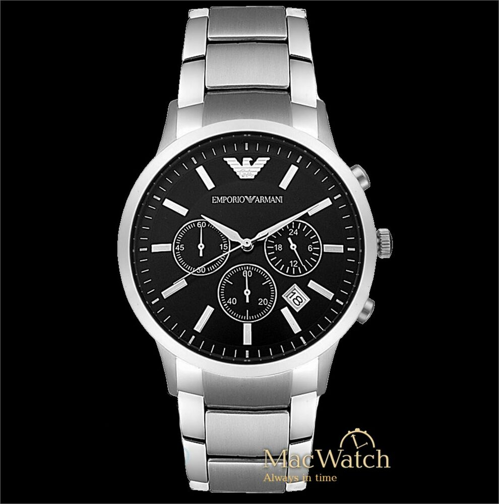 emporio armani herren uhr ar2434 chronograph klassik neu ovp 4048803489444 ebay. Black Bedroom Furniture Sets. Home Design Ideas