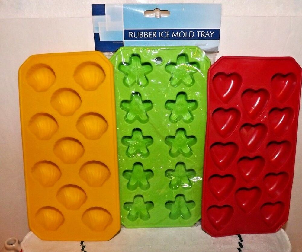 New Amp Used Silicone Ice Cube Trays Rubber Candy Mold Jello
