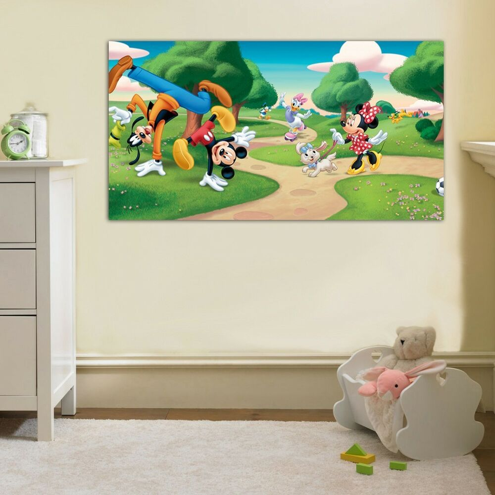 Mickey mouse friends disney clubhouse canvas print wall - Mickey mouse clubhouse bedroom decor ...