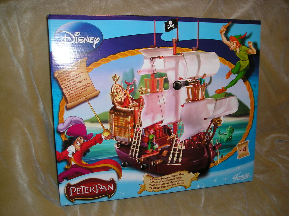 Peter Pan Toys : Disney heroes famosa peter pan figure lot and hook big