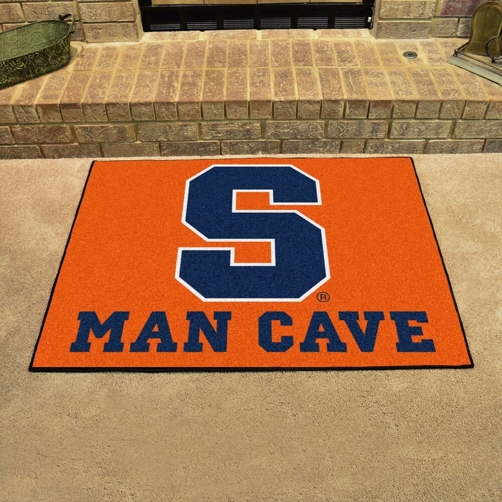 "Syracuse Orange Man Cave 34"" X 43"" All Star Area Rug Floor"