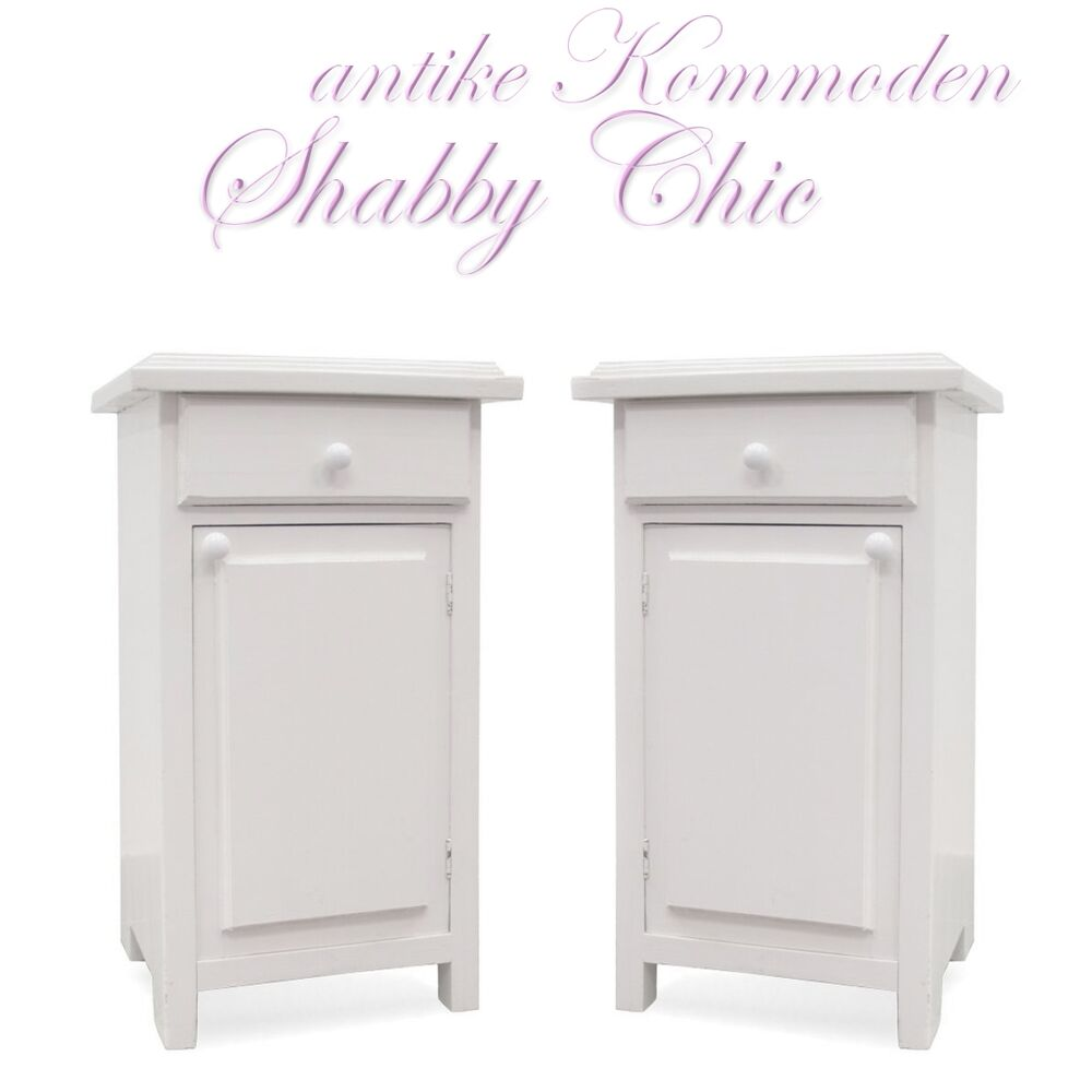 kleine shabby chic kommoden vintage vollholz wei wundersch ne k stchen ebay. Black Bedroom Furniture Sets. Home Design Ideas