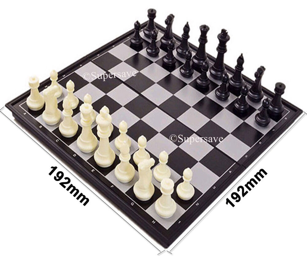 Magnetic Folding Chess Board Portable Set With Pieces