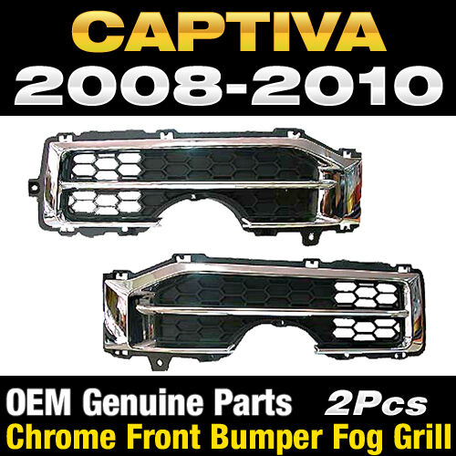 2012 Chevy Captiva Accessories: OEM Genuine Parts Chrome Front Bumper Fog Grill For Chevy