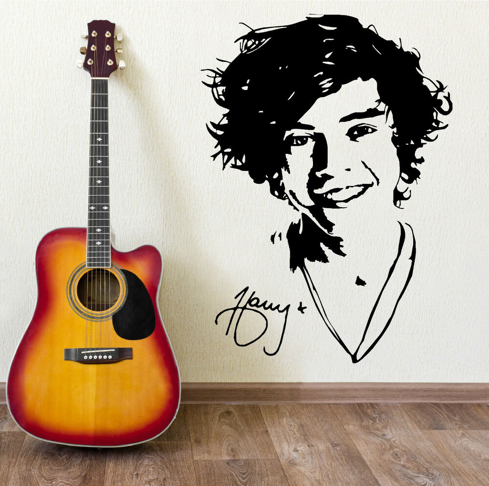 Diy One Direction Wall Decor : One direction harry styles wall art sticker decal girls