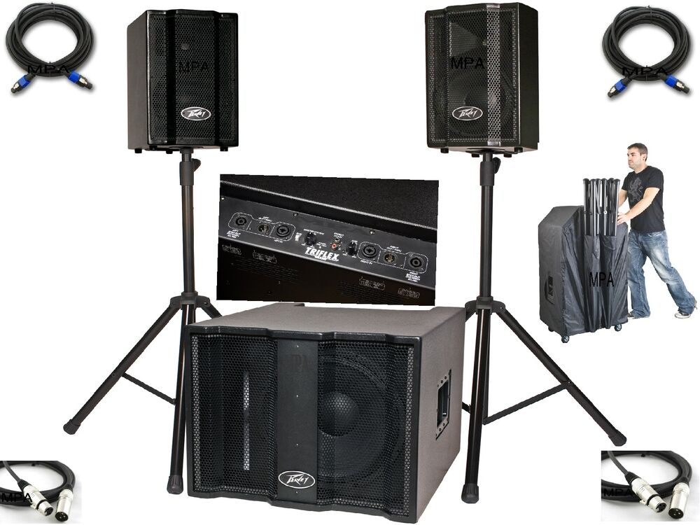 peavey triflex ii speaker system powered sub karaoke dj band pa sound system new ebay. Black Bedroom Furniture Sets. Home Design Ideas