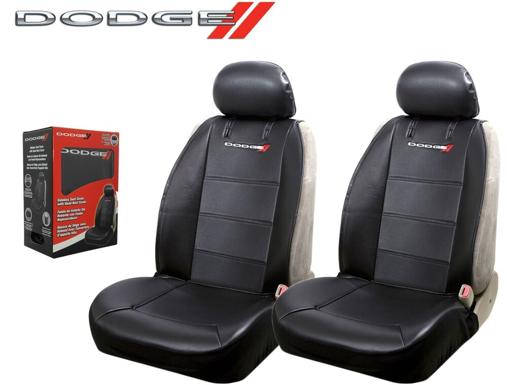 dodge elite seat covers black synthetic leather side air bag ready fast shipping ebay. Black Bedroom Furniture Sets. Home Design Ideas