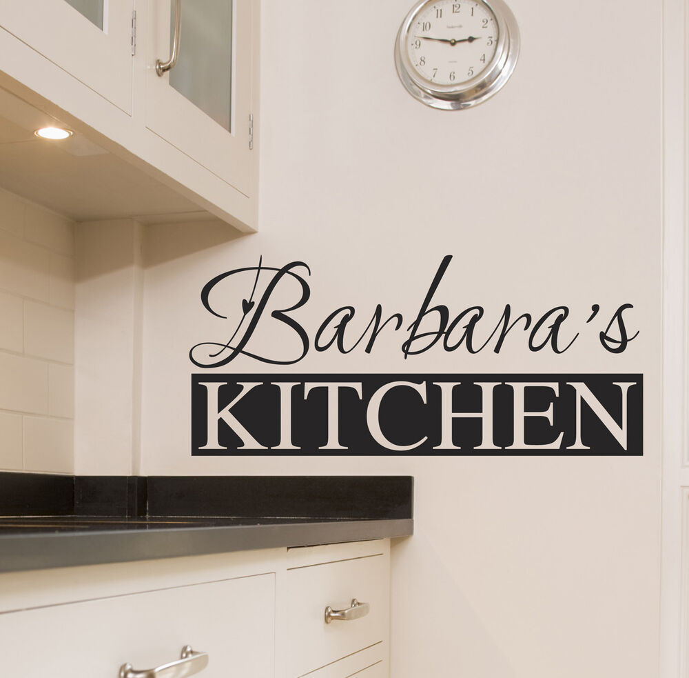 Wall Art Kitchen Quotes : Personalised kitchen wall sticker art quotes decals w