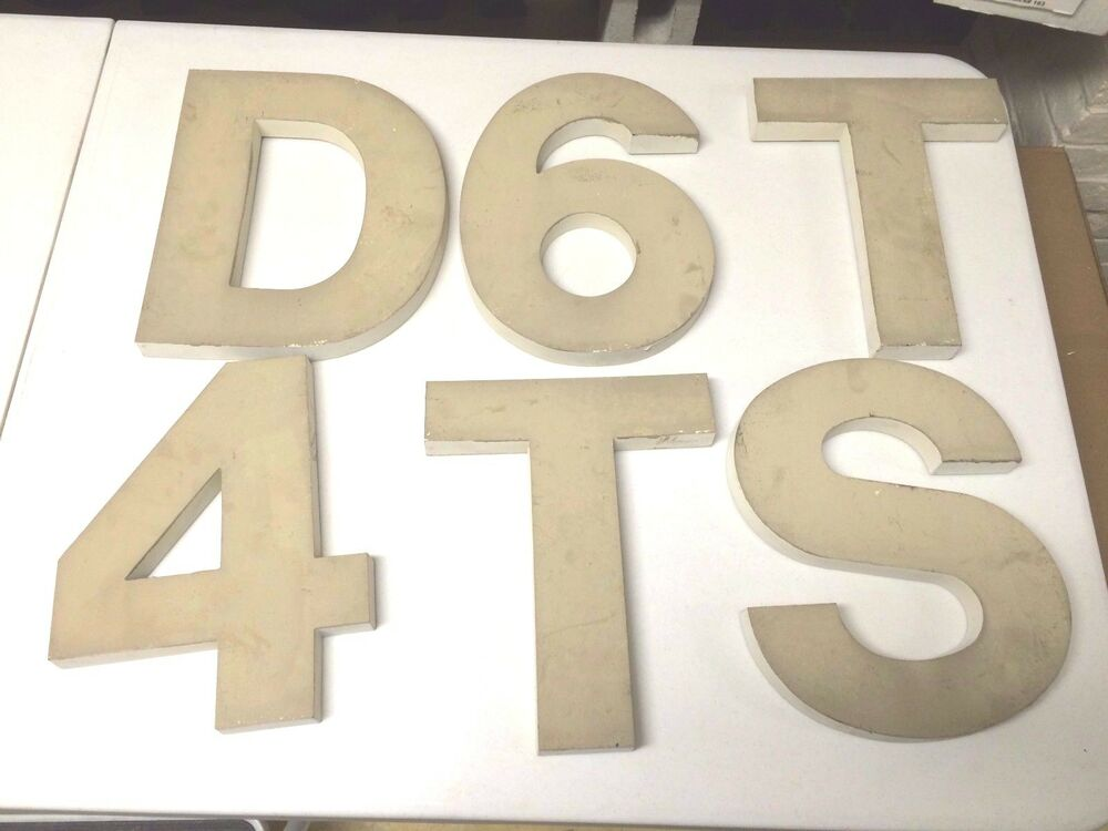 Injection Molded Letter And Numbers