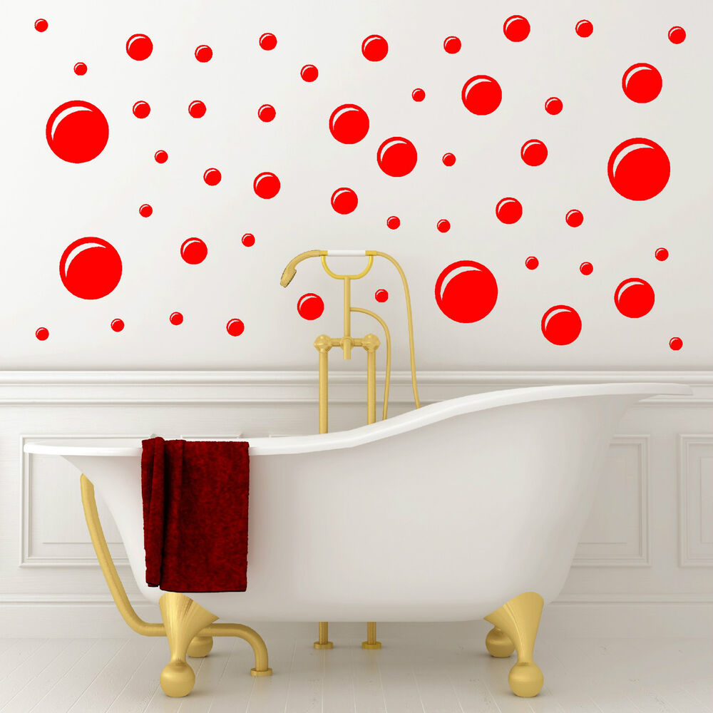 Bathroom Wall Art Bubbles : Bubbles bathroom wall art vinyl sticker decal set of